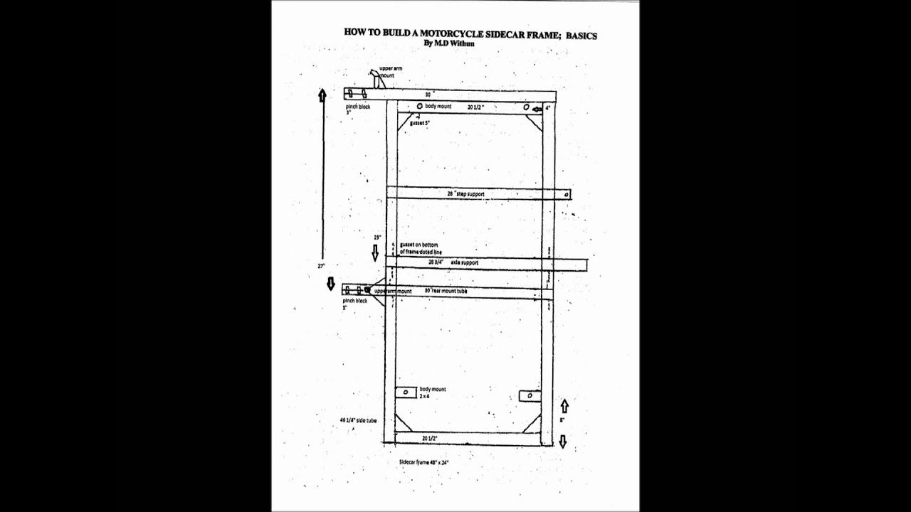 How to build a motorcycle sidecar frame booklet - YouTube