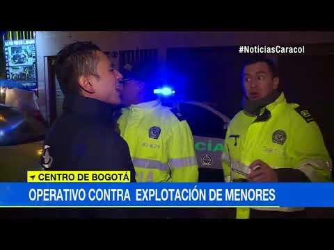 Policía rescató a 19 menores que eran explotados sexualmente en el centro de Bogotá