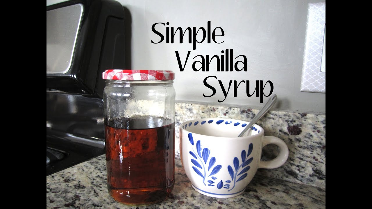 recipe: homemade vanilla syrup for lattes [3]