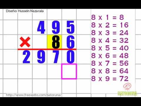 Multiplicación Por 2 Cifras
