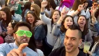 Grabando con la Gopro la Fiesta de la primavera de Granada del  2014