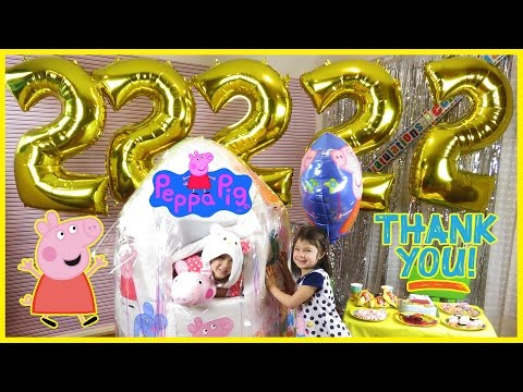 PEPPA PIG GIANT SURPRISE EGG and 22,222 Subscriber Special Thank You Peppa Pig Toys Peppa Pig Videos