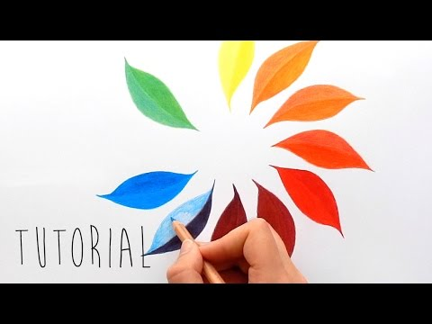 Tutorial | Only 3 colors to create a color wheel with colored pencils | Emmy Kalia