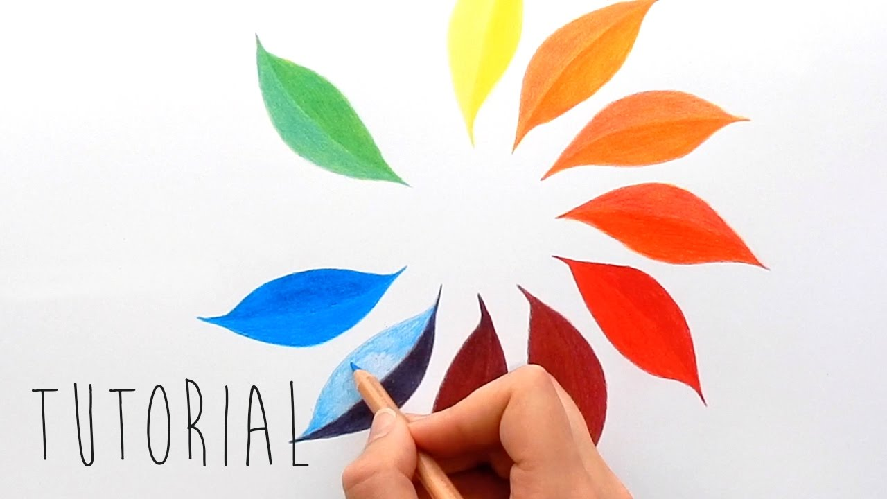 Tutorial Only 3 Colors To Create A Color Wheel With Colored