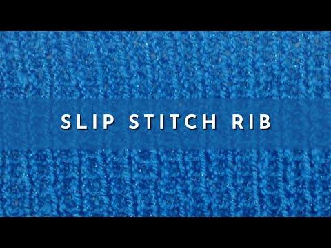 How to Knit the Slip Stitch Rib (English Style) - YouTube
