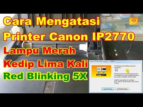 CANON IP 2770  error number 5200, lampu kedip selang seling bergantian, blink bergantian.