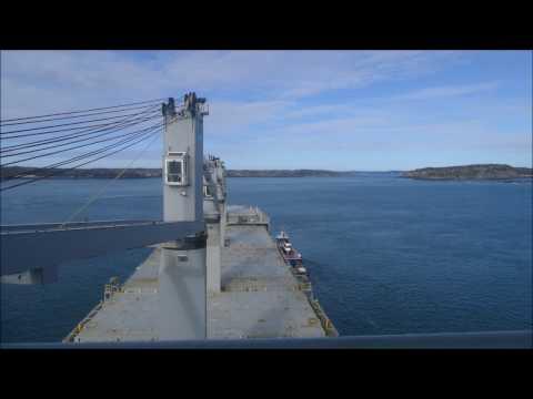 Piloting the Star Dalmatia into Eastport