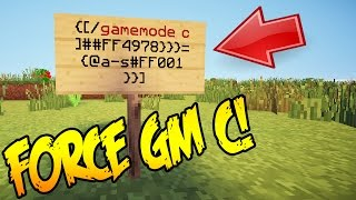 MINECRAFT FORCE CREATIVE MODE SERVER HACK