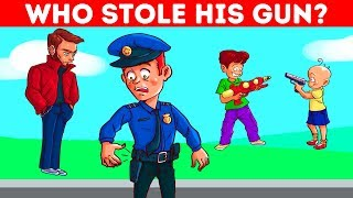 15 LOGIC PUZZLES AND CRIME RIDDLES WITH ANSWERS FOR KIDS