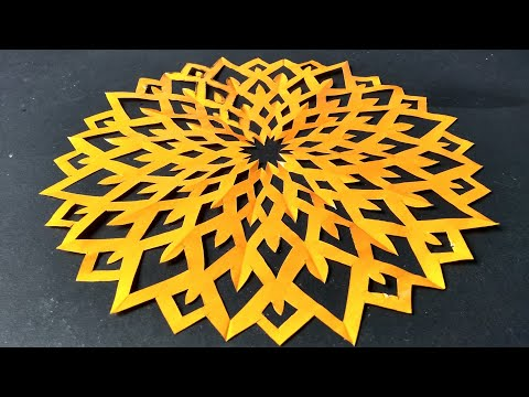 FLOWER DESIGN BY COLOR PAPER | PAPER CUTTING ART | PAPER CRAFT | RAINBOW ART | paper cutting art