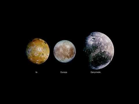 Sound of Jupiter's moons Orbital frequencies : Io Europa Ganymede  (0.8 Hz Binaural Beats)