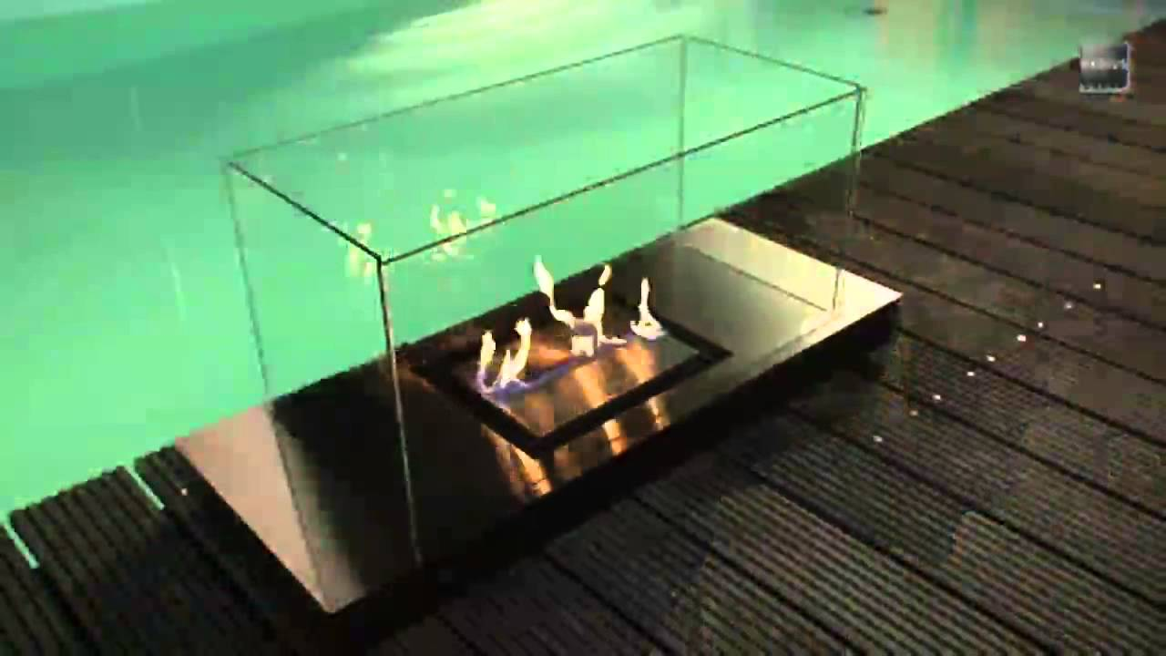 Beautiful Radius Design Uni Flame Ethanol Kamin