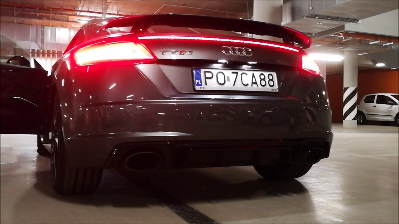 Audi TTRS – niesamowity dźwięk z wydechu podczas odpalania