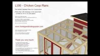 L100 - Chicken Coop Plans Construction - Chicken Coop Design