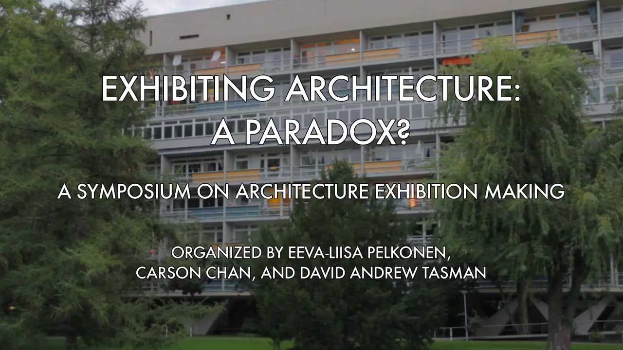Exhibiting architecture a paradox yale school of for J j school of architecture