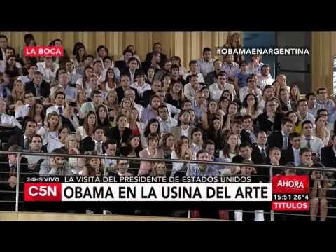 C5N – Obama en Argentina: discurso ante jóvenes en la Usina del Arte