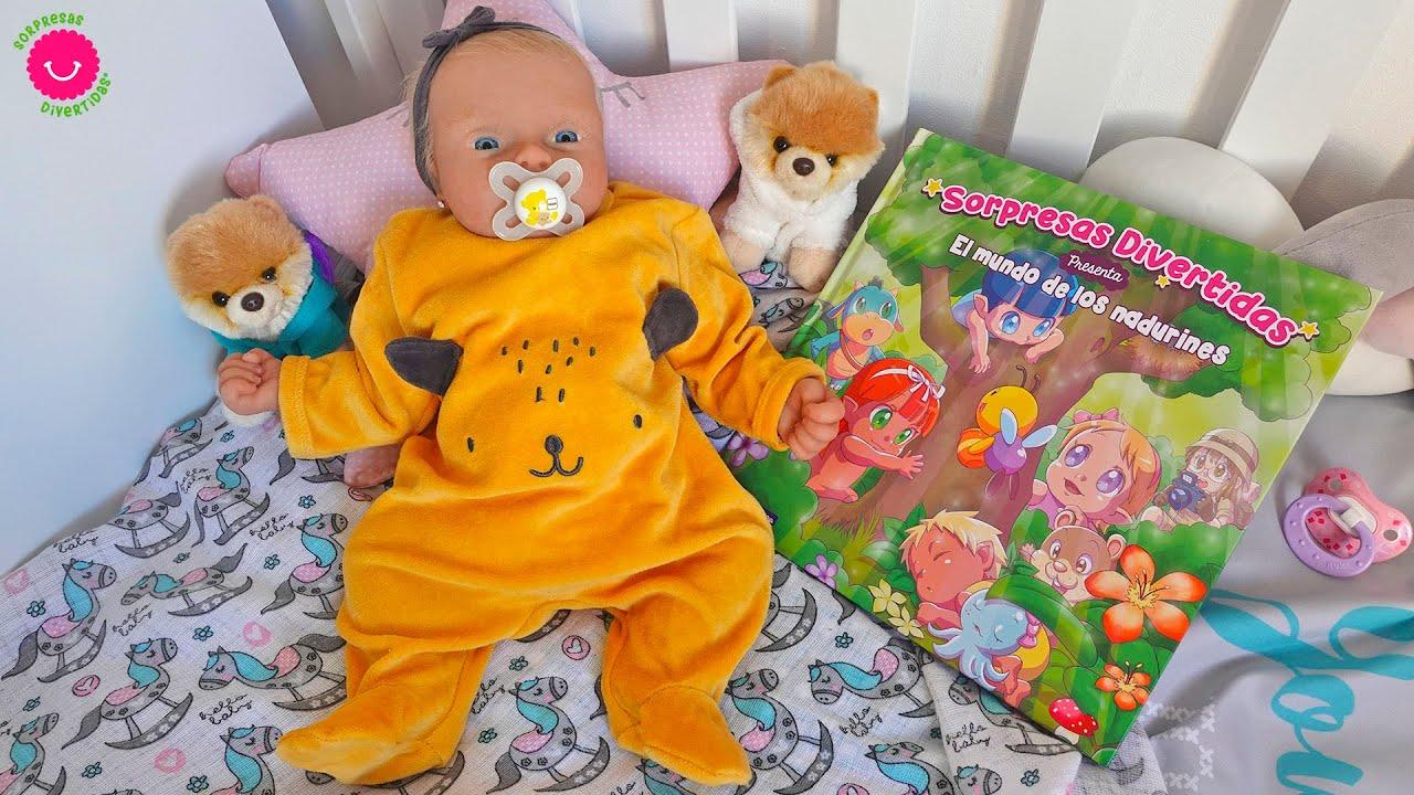 🌜Rutina de Noche de ALMA bebé reborn de silicona con el Cuento de los Nadurines