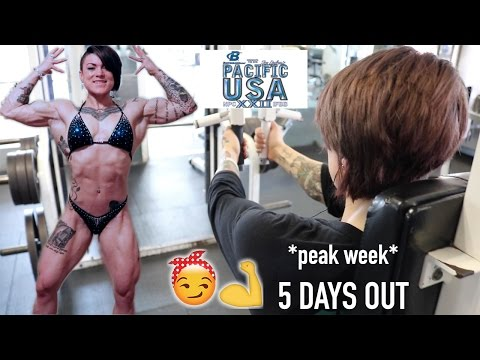 PEAK WEEK | WOMEN'S PHYSIQUE DEBUT | 5 DAYS OUT | Episode 16