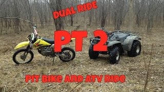 pit bike and atv ride : getting gas , exploring new trail : PT 2