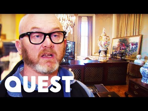 Drew Can't Contain His Excitement Looking For Antiques In Belgium | Salvage Hunters