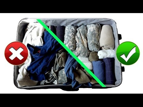 Army Hack: Packing Suitcase / Baggage Like a Pro for Vacation Travel || Space Saving Military Style
