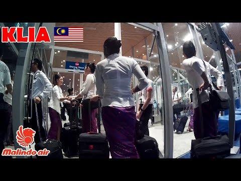 Malindo air crews changing shift, KLIA, Malaysia