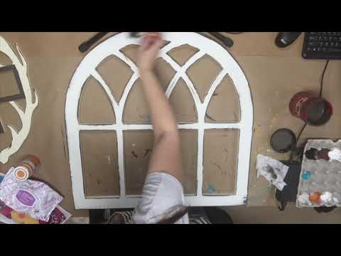 Wooden Unfinished Distressed Arch Cutout, DIY Tutorial