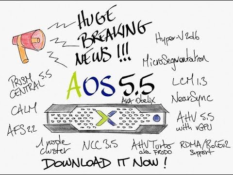 Upgrade to Nutanix AOS 5.5 step by step !!