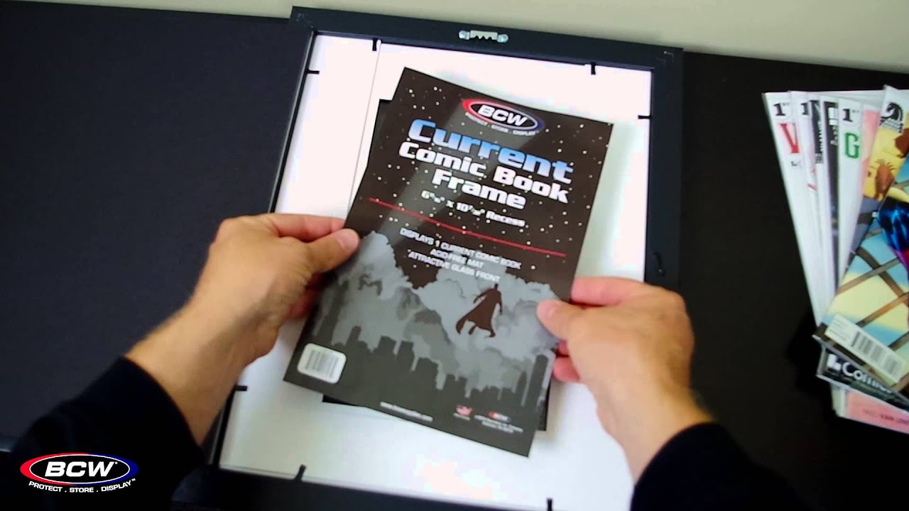 BCW Current Comic Book Frame - YouTube