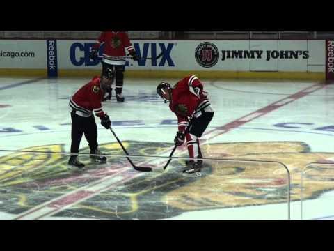 Chicago Blackhawks Amex Skate with Denis Savard at the United Center