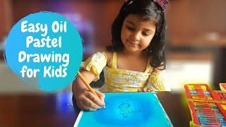 Easy Oil Pastel Drawing for Kids | Krishna Painting | Oil Pastel Art for Kids | #9