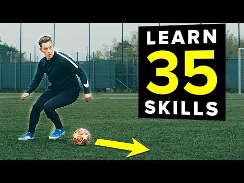 1 HOUR of tutorials   Learn 35 football skills