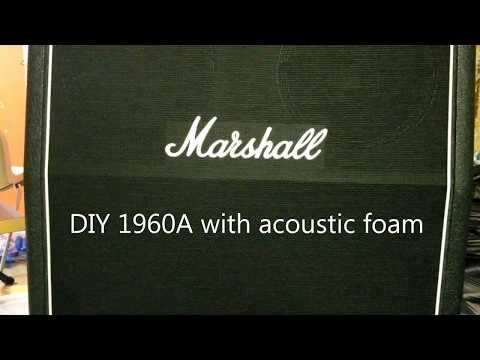 Marshall 1960A DIY acoustic foam add-on comparison