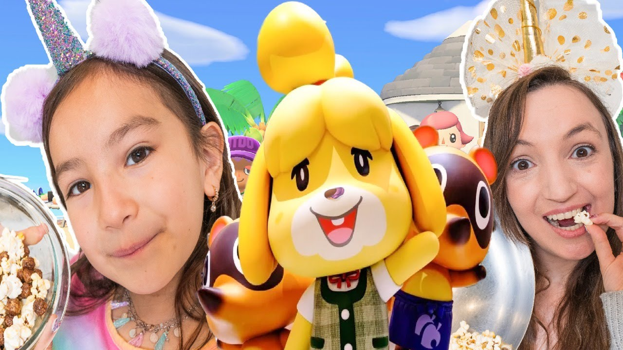 pretend play Las 2 Munecas juegan Animal Crossing: New Horizons