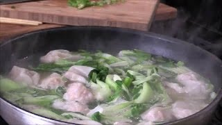 Shrimp and Pork Wonton Noodles Soup