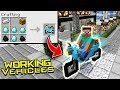 How to Make WORKING VEHICLES in Minecraft! (Motorcycles, Cars, Plane) [Pocket Edition, Xbox,Win10]