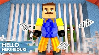 Minecraft Hello Neighbour - THE NEIGHBOUR IS ARRESTED FOR HIS BIG SECRET??