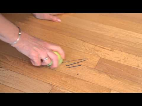 Tennis Ball Tips for Wiping Away Scuff Marks : Clean in :30