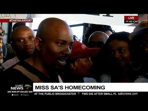 Fans, family gather to welcome Miss SA 2019 back home