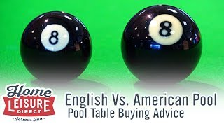 What are the Differences Between English and American Pool? - Pool Table Buying Advice