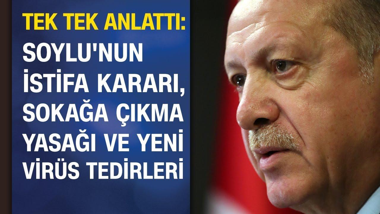Cumhurbaşkanı Erdoğan'dan Süleyman Soylu, sokağa çıkma yasağı ve koronavirüs açıklaması | 13.04