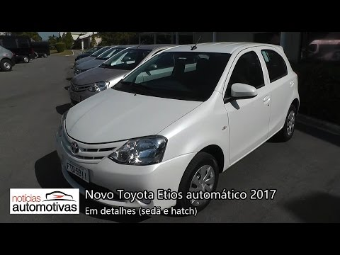 Novo Toyota Etios 2017 automático - Detalhes - NoticiasAutomotivas.com.br