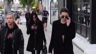 Kendall Jenner and Hailey Baldwin shake a little booty while sunglass shopping in L.A.