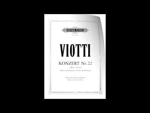 Giovanni Battista Viotti - Violin Concerto No. 22 in A minor (full with solo violin score)