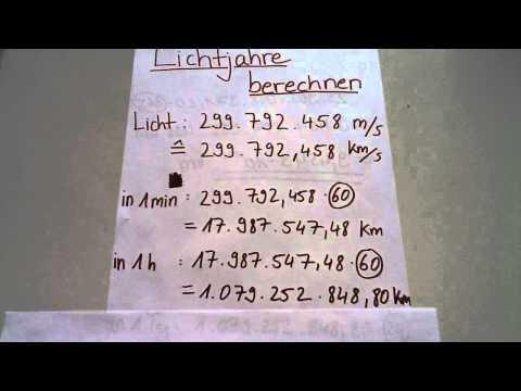wieviel km ist ein lichtjahr