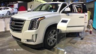 Inside the 2018 Platinum ESV Cadillac Escalade / Worth $100,000 ? LA Auto Show