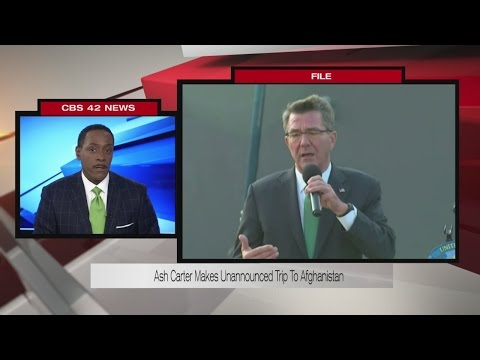 Ash Carter makes unannounced trip to Afghanistan