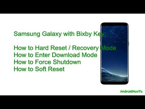 Samsung Galaxy with Bixby Key Hard reset and Soft Reset