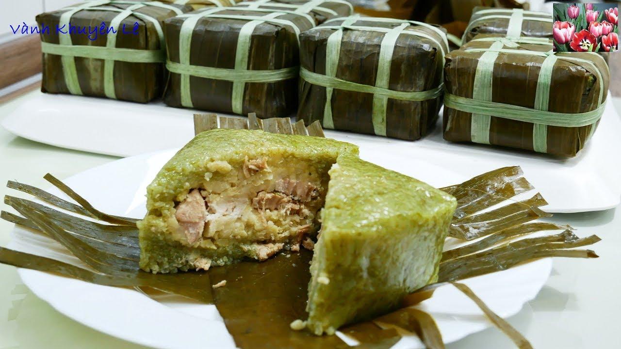 BÁNH CHƯNG gói LÁ CHUỐI – Cách gói Bánh Chưng vuông xanh nấu nhanh tiết kiệm Điện by Vanh Khuyen