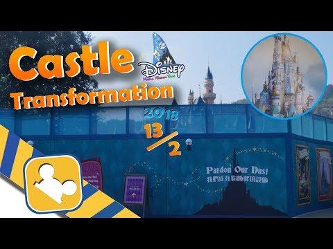 Construction Update:Castle Transformation | Hong Kong Disneyland (Feb 13, 2018)